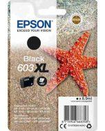 Epson C13T03A14010, 603XL musta 8,9ml 500 sivua Original
