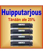 HP CF540X, HP 203X  4-väri CMYK Mustekasetti.com