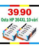 HP CH082EE, 364XL 10-pakkaus CMYKK x2 Mustekasetti.com