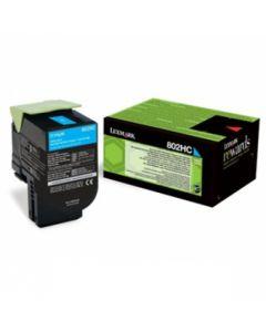 Lexmark 80C2HC0 CX410 syaani 3000 sivua Original mustekasetti