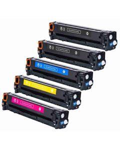 HP CF210X 5-pakkaus CMYKK Mustekasetti.com