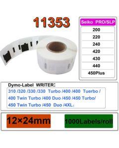 Mustekasetti.com-tarvike, non-OEM Dymo 11353 Seiko tarra 24mm x 13mm, 1000 kpl