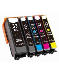 Epson C13T33574010 5-pakkaus 33XL CMYKK 87ml 2x enemmän Mustekasetti.com