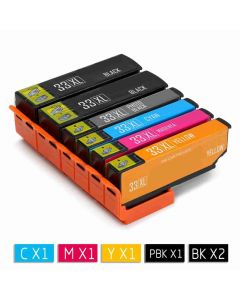 Epson C13T33574010 6-pakkaus 33XL CMYKKK 112mlMustekasetti.com