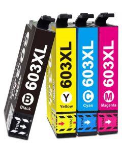 Epson C13T03A64010, 603XL, 4-väri CMYK  50ml x 2,4 enemmän Mustekasetti.com