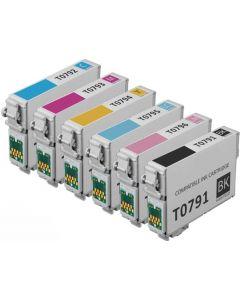 Epson C13T0791 6-pakkaus 6 x 18ml +64% enemmän Mustekasetti.com