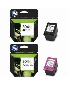 HP 304XL 2-pakkaus musta ja 3-väri