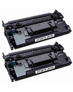 HP CF287XD musta 18000 sivua x 2 kpl Mustekasetti.com