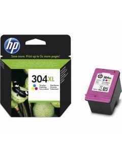 HP N9K07AE No 304XL 3-väri 300 sivua Original mustekasetti