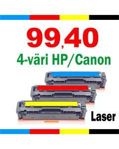 4-väriä HP / Canon lasereihin