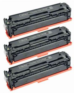 HP CB540AD 3-pakkaus musta 2200 x 3 kpl = 6600 sivua Mustekasetti.com