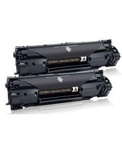 HP CB435A musta Jumbo 3000 sivua x2 = 6000 sivua Mustekasetti.com