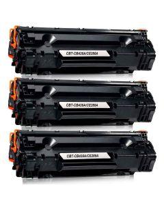 HP CB435A musta 1600 sivua x3 = 4800 sivua  Mustekasetti.com