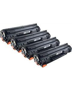 HP CE285A musta 2100 sivua x 4 kpl = 8400s Mustekasetti.com