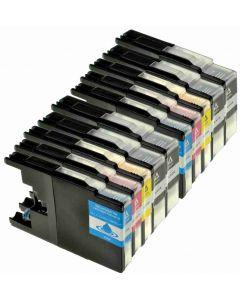 Brother LC1240VALBPDR 10-pakkaus 180ml CMYKK x 2 Mustekasetti.com