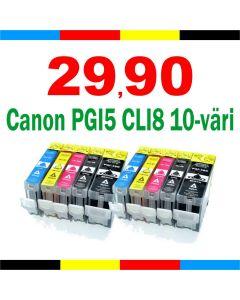 Canon CLI-8 ChromaLife Pack 10-pakkaus CMYKK x2 Mustekasetti.com
