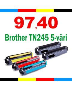 Brother TN-241/TN-245 5-väri CMYKK Mustekasetti.com