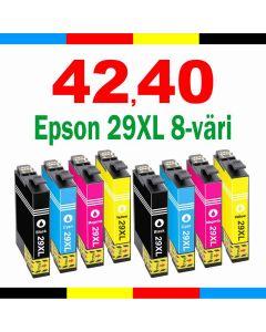 Epson C13T29964010 8-väri CMYK 29XL 120ml Mustekasetti.com