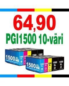 Canon PGI-1500XL 10-väri CMYKK x 2 kpl 268ml Mustekasetti.com