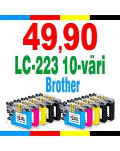 Brother LC223VALBPDR 10-pakkaus CMYK 140ml Mustekasetti.com