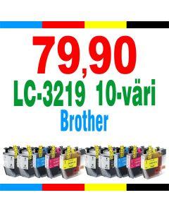 BrotherLC-3219 CMYK 5-väri 170ml Mustekasetti.com