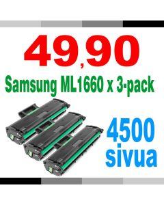 Samsung MLT-D1042S, ML1660 musta 1500 sivua x 3 = 4500 sivua Mustekasetti.com