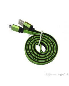 Micro-USB-kaapeli /USB2-nauhakaapeli 120 cm vihreä