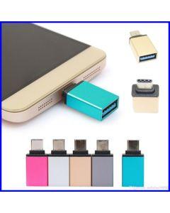 USB 3.0 A-naaras => USB 3.1 Type-C -adapteri OTG magenta