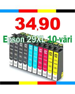 Epson C13T29964012 10-väri CMYKK x2 29XL 150ml Mustekasetti.com