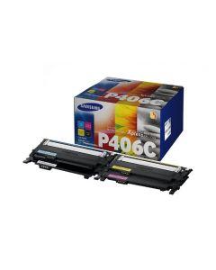 Samsung CLT-P406C rainbow kit CMYK x 4 kasettia Original mustekasetti