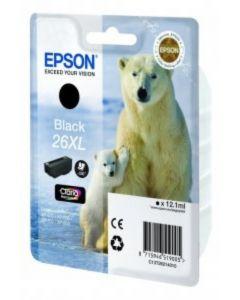 Epson C13T26214010 musta XL 12ml 500 sivua Original mustekasetti