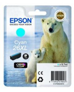 Epson C13T26324010 syaani XL 9,7ml Original mustekasetti