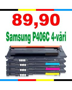 Samsung CLT-P406C 4-pakkaus CMYKK Mustekasetti.com