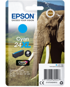 Epson C13T24324012, T24XL syaani 8.7ml Original