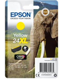 Epson C13T24344012, T24XL keltainen 8,7ml Original
