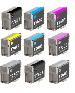 Epson C13T760, 9-väripakkaus 288ml Mustekasetti.com